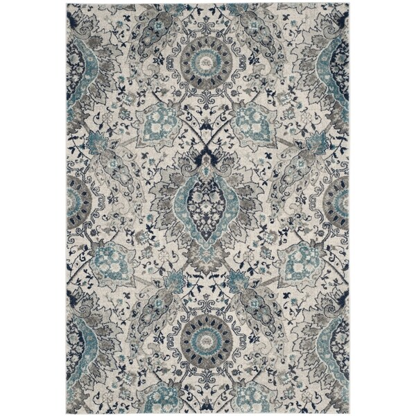 Safavieh Madison Bohemian Cream Light Grey Rug 8 X 10
