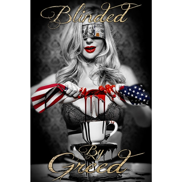 Daveed Benito 'Blinded by Greed' Giclee Fine Wall Art