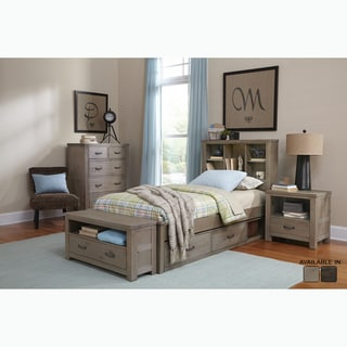 Highlands Collection Driftwood Twin Bookcase Bed