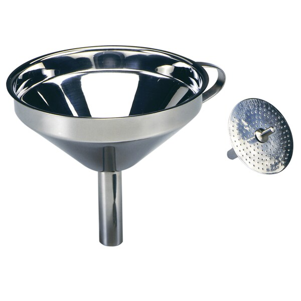 Norpro 245 Stainless Steel Funnel With Strainer