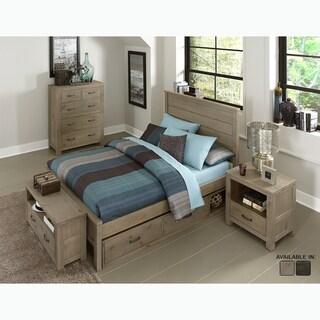 NE Kids Highlands Collection Alex Grey Pine Driftwood Full-size Panel Bed