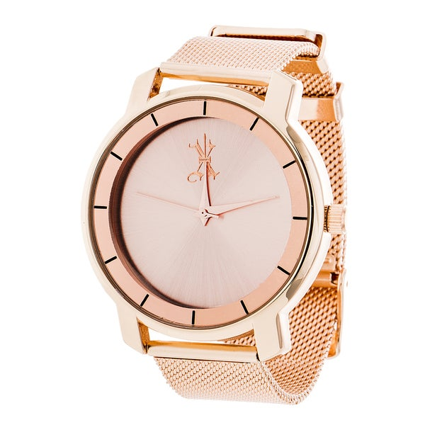Brooklyn Exchange Rose Gold Dial w/ Rose Gold Case and Mesh Strap Watch