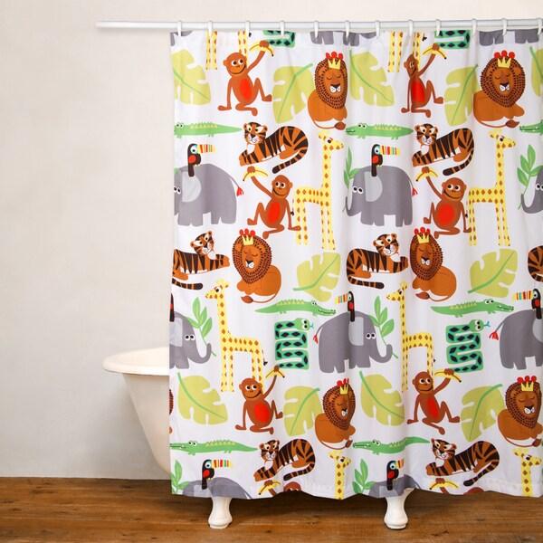 Crayola Jungle Love Shower Curtain