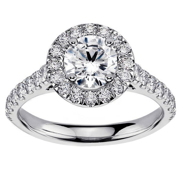 14k or 18k White Gold 2ct TDW Brilliant-cut Diamond Engagement Ring (G-H, SI1-SI2)
