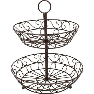 Sorbus 2-Tier Countertop Fruit Basket Holder & Decorative Bowl Stand