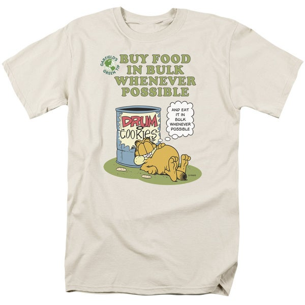 Garfield/Buy in Bulk Short Sleeve Adult T-Shirt 18/1 in Cream