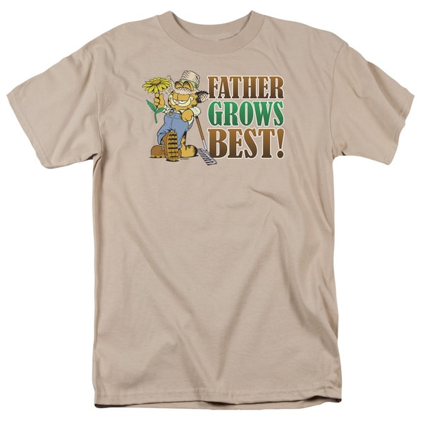 Garfield/Father Grow's Best Short Sleeve Adult T-Shirt 18/1 in Sand