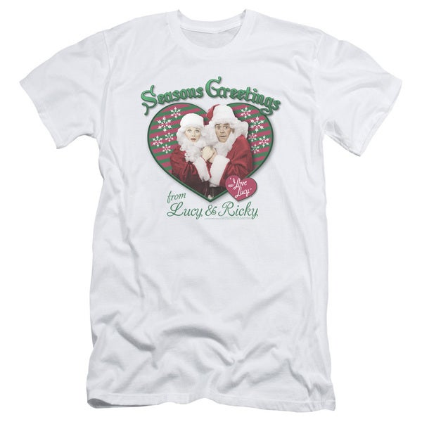 Lucy/Seasons Greetings Short Sleeve Adult T-Shirt 30/1 in White