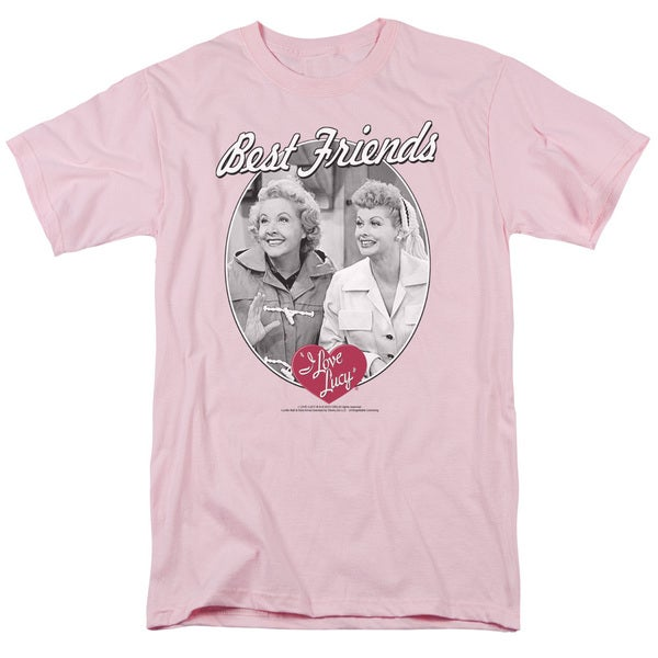 Lucy/Best Friends Short Sleeve Adult T-Shirt 18/1 in Pink
