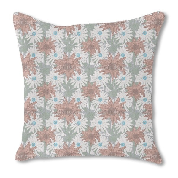 Expedition Echinacea Burlap Pillow Single Sided