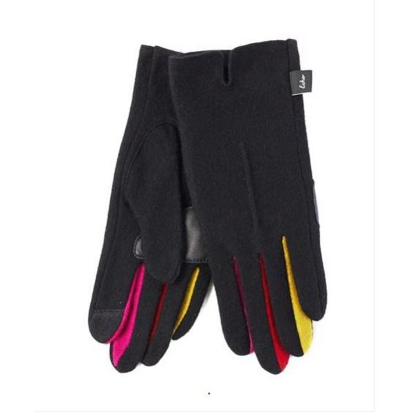 Echo Design Womens Cashmere Colorblock Fourchette Gloves