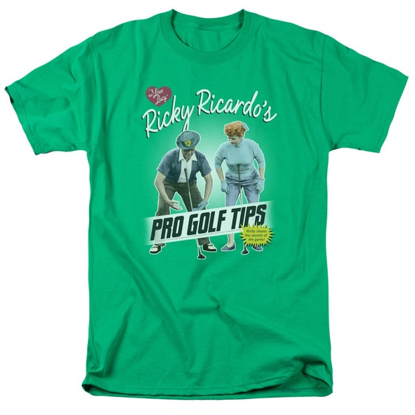 Lucy/Pro Golf Tips Short Sleeve Adult T-Shirt 18/1 in Kelly Green