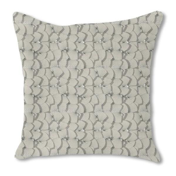 Sea Shell Fan Burlap Pillow Double Sided