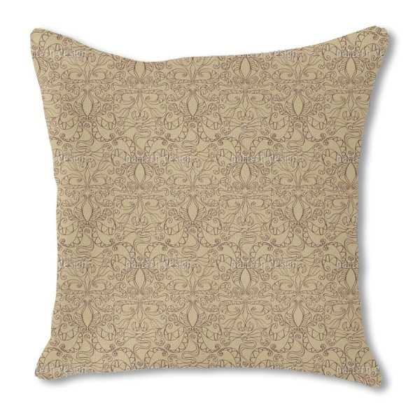Spiritual Loops Beige Burlap Pillow Double Sided