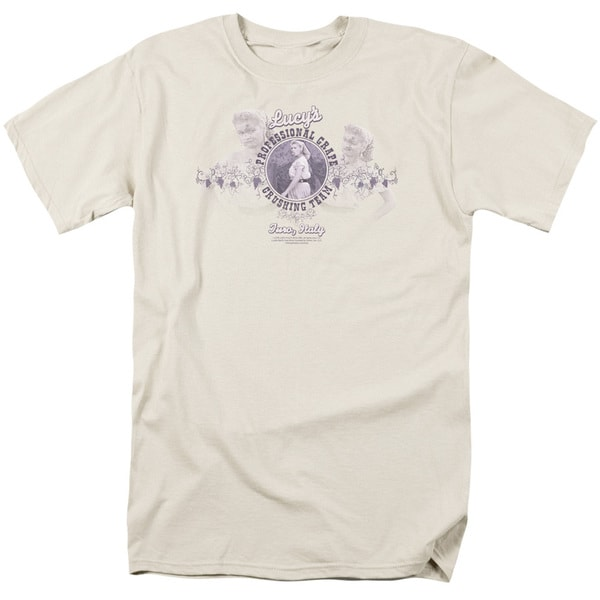 Lucy/Grape Crushing Short Sleeve Adult T-Shirt 18/1 in Lavendar