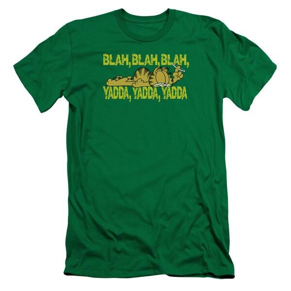 Garfield/Blah Blah Blah Short Sleeve Adult T-Shirt 30/1 in Kelly Green
