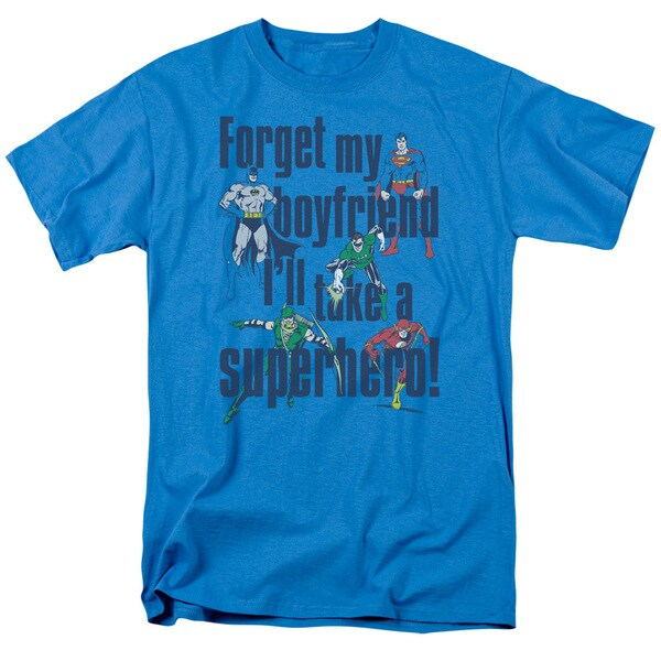 DC/Forget My Boyfriend Short Sleeve Adult T-Shirt 18/1 in Turquoise