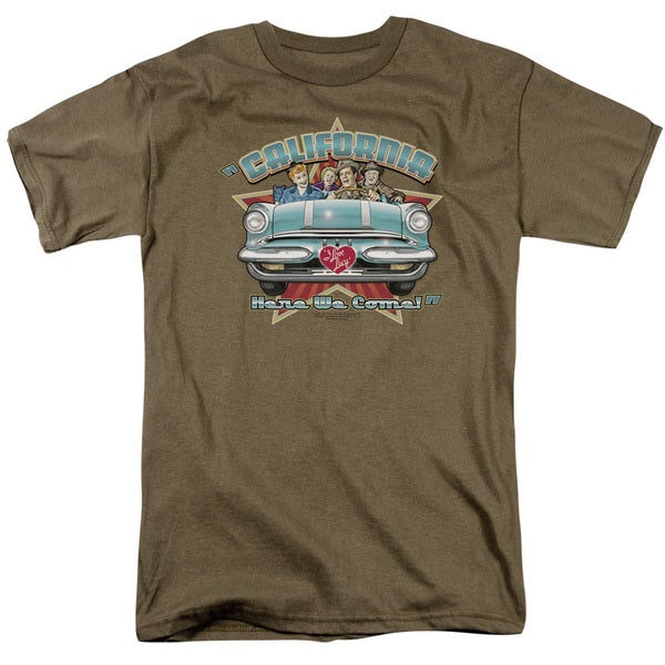 Lucy/California Here We Come Short Sleeve Adult T-Shirt 18/1 in Safari Green