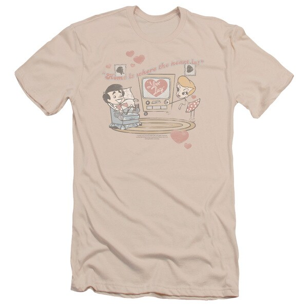 Lucy/Home Is Where The Heart Is Short Sleeve Adult T-Shirt 30/1 in Cream