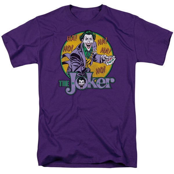 DC/The Joker Short Sleeve Adult T-Shirt 18/1 in Purple