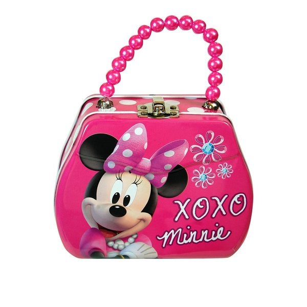 Disney Minnie PInk Tin Bowtique Purse with Beaded Handle