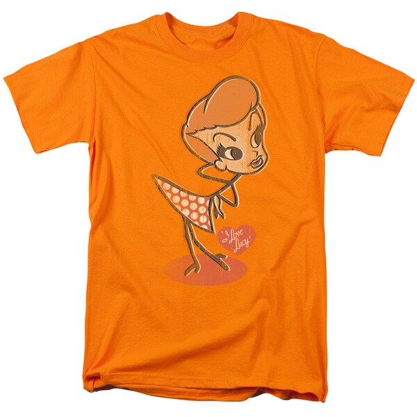Lucy/Vintage Doll Short Sleeve Adult T-Shirt 18/1 in Orange