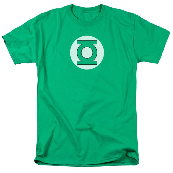 DC/Green Lantern Logo Short Sleeve Adult T-Shirt 18/1 in Kelly Green