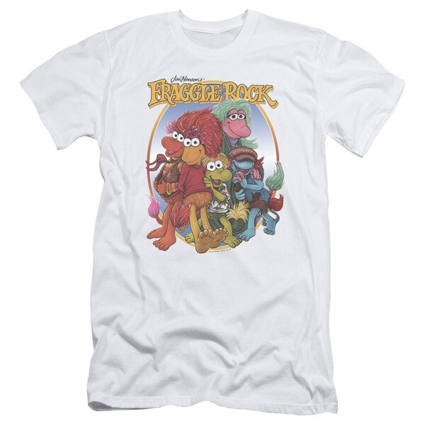 Fraggle Rock/Group Hug Short Sleeve Adult T-Shirt 30/1 in White