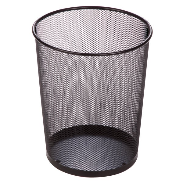 "Honey Can Do TRS-02102 14"" Black Wire Mesh Trash Basket"