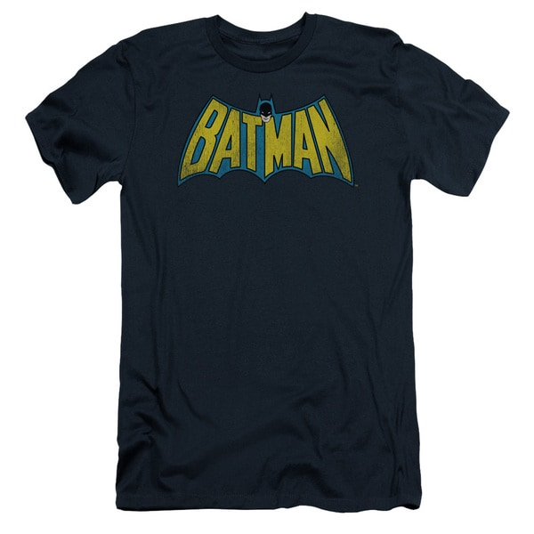 DC/Classic Batman Logo Short Sleeve Adult T-Shirt 30/1 in Navy