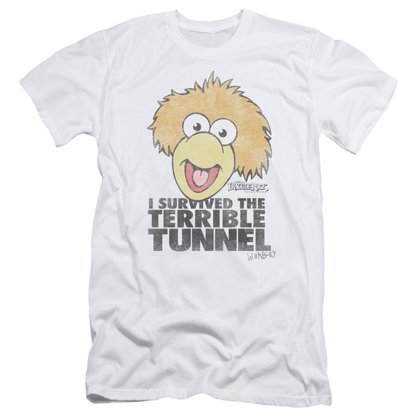 Fraggle Rock/Terrible Tunnel Short Sleeve Adult T-Shirt 30/1 in White