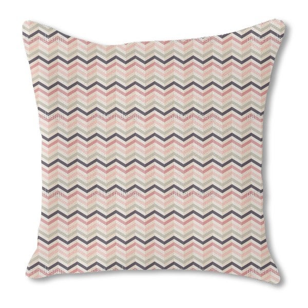 Chevron Blush Burlap Pillow Double Sided