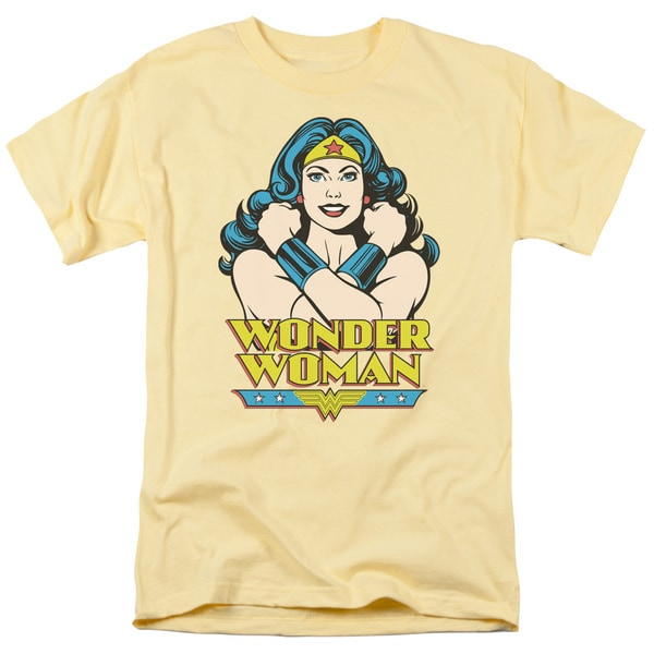 DC/Wonder At Large Short Sleeve Adult T-Shirt 18/1 in Banana