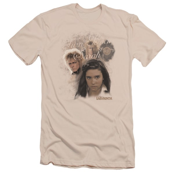 Labyrinth/Turn Back Sarah Short Sleeve Adult T-Shirt 30/1 in Cream
