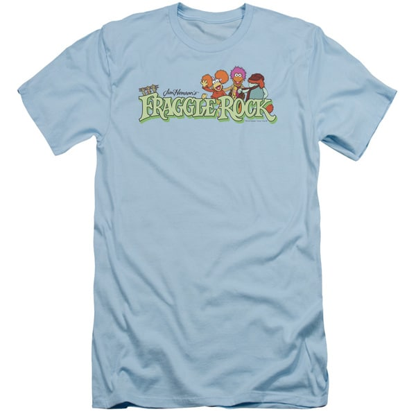 Fraggle Rock/Leaf Logo Short Sleeve Adult T-Shirt 30/1 in Light Blue