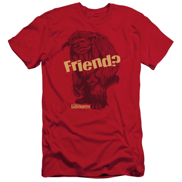 Labyrinth/Ludo Friend Short Sleeve Adult T-Shirt 30/1 in Red