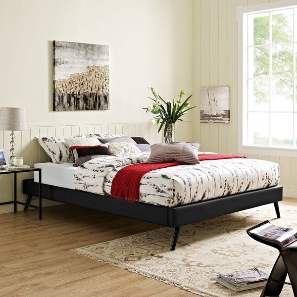 Modway Helen Black Wood Round Splayed Legs Bed 20668132