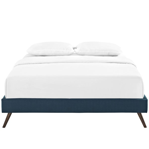 Modway Helen Azure Wood Bed with Round Splayed Legs