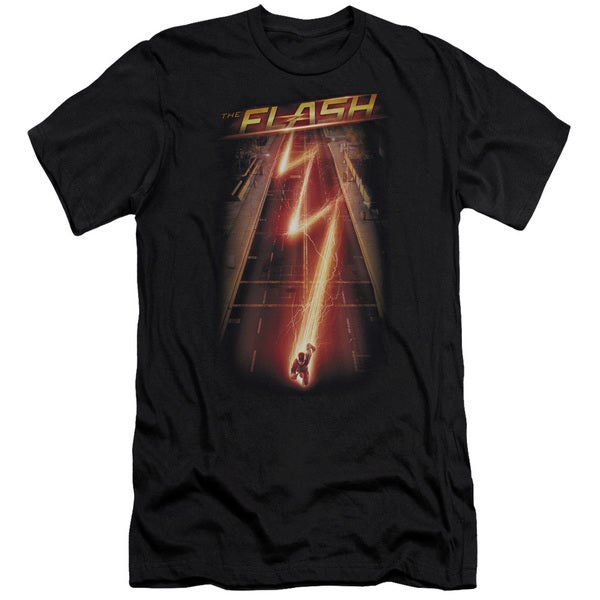 The Flash/Flash Ave Short Sleeve Adult T-Shirt 30/1 in Black