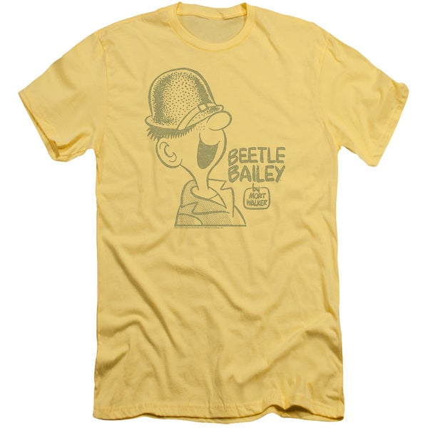 Beetle Bailey/Vintage Beetle Short Sleeve Adult T-Shirt 30/1 in Banana