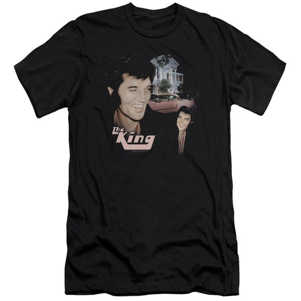 Elvis/Home Sweet Home Short Sleeve Adult T-Shirt 30/1 in Black