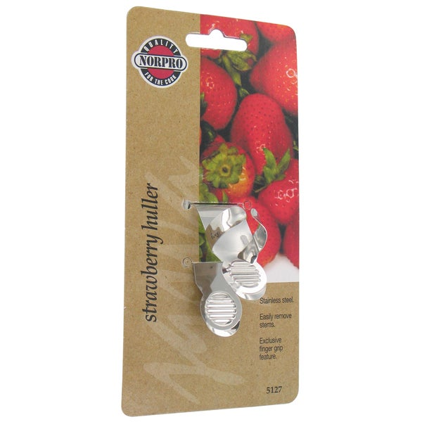 Norpro 5127 Strawberry Huller With Finger Grip