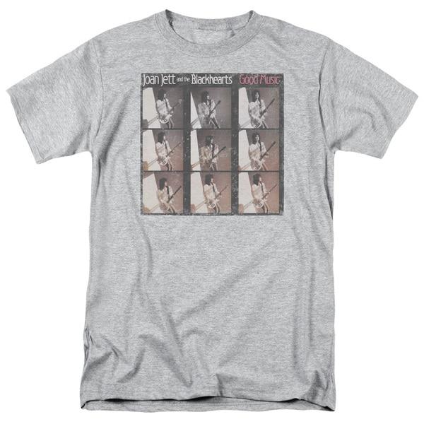 Joan Jett/Good Music Short Sleeve Adult T-Shirt 18/1 in Athletic Heather