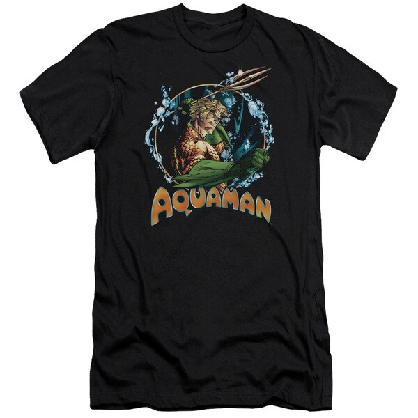 JLA/Ruler Of The Seas Short Sleeve Adult T-Shirt 30/1 in Black