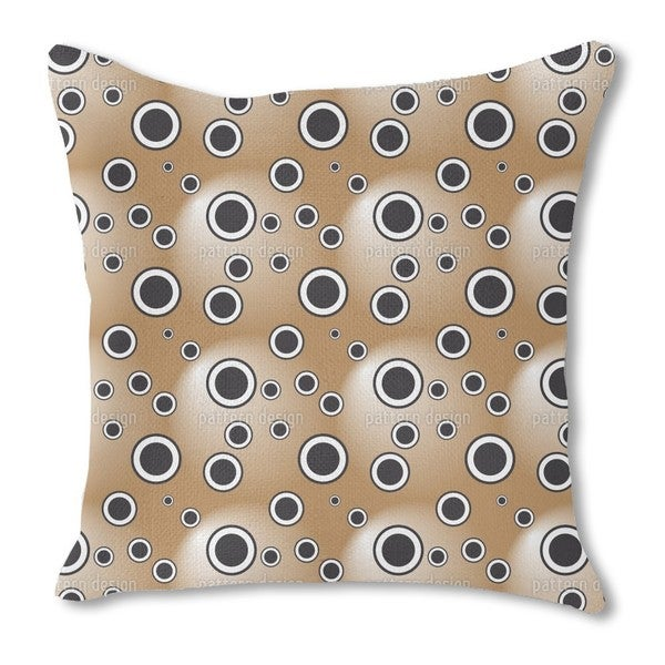 Circles in the Spotlight Burlap Pillow Single Sided