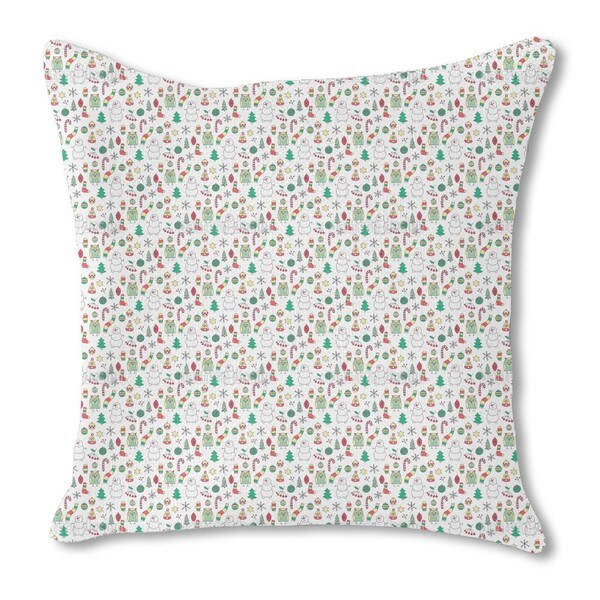 Winter Fun with Mr. Snowman Burlap Pillow Single Sided