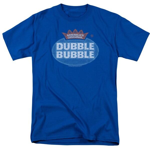 Dubble Bubble/Vintage Logo Short Sleeve Adult T-Shirt 18/1 in Royal Blue