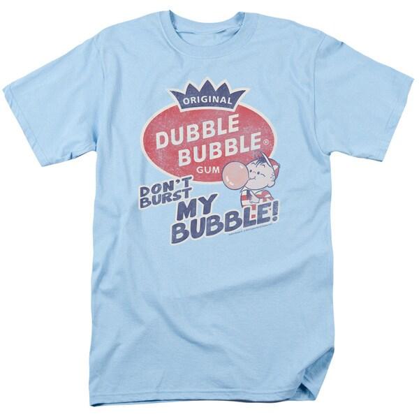 Dubble Bubble/Burst Bubble Short Sleeve Adult T-Shirt 18/1 in Light Blue