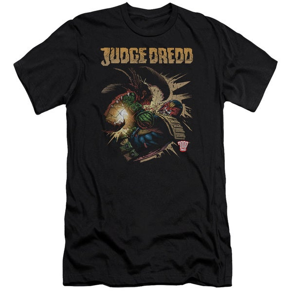 Judge Dredd/Blast Away Short Sleeve Adult T-Shirt 30/1 in Black