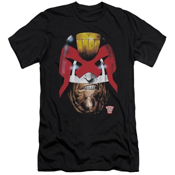 Judge Dredd/Dredd's Head Short Sleeve Adult T-Shirt 30/1 in Black